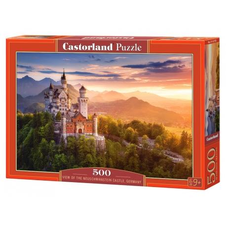 View of the Neuschwanstein Castle - Germany