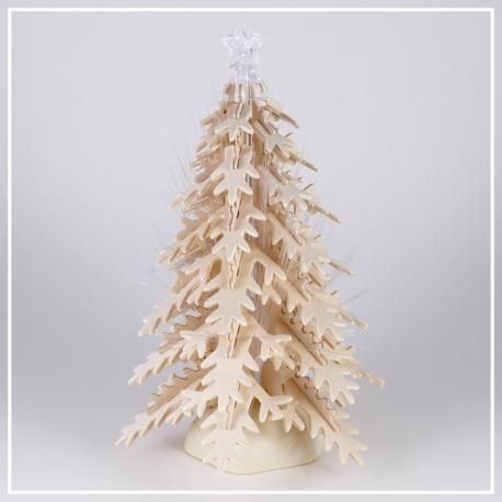 Weihnachtsbaum - 3D Holzpuzzle