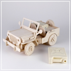 Jeep - 3D Holzpuzzle