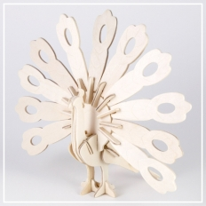 Pfau - 3D Holzpuzzle