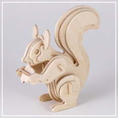 Eichhörnchen - 3D Holzpuzzle