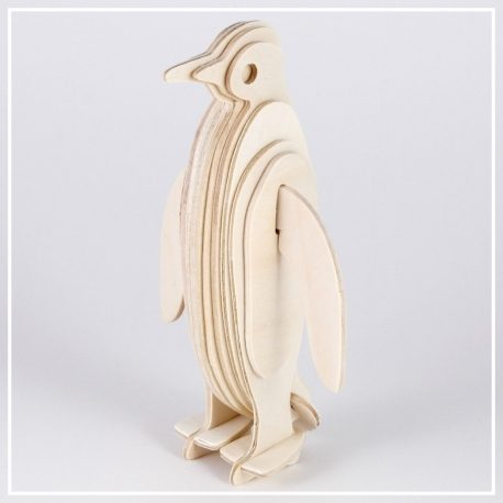 Pinguin - 3D Holzpuzzle