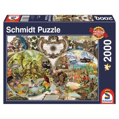 Exotische Weltkarte