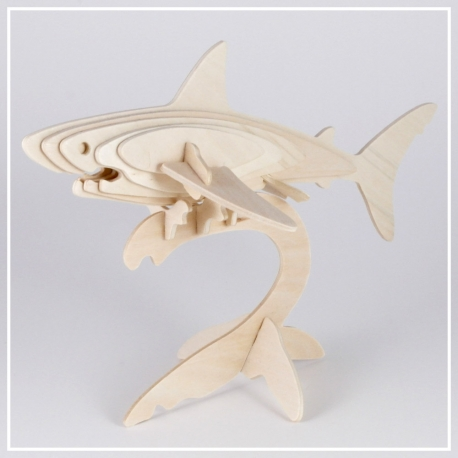 Haifisch - 3D Holzpuzzle