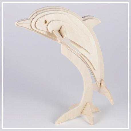 Delphin - 3D Holzpuzzle