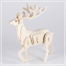 Hirsch - 3D Holzpuzzle
