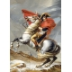 Napoleon Crossing the Alps -  Jacques-Louis David