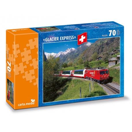 Glacier Express bei Stalden VS