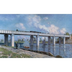 Die Eisenbahnbrücke in Argenteuil - Claude Monet