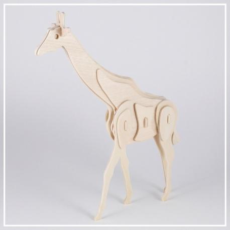 Giraffe - 3D Holzpuzzle