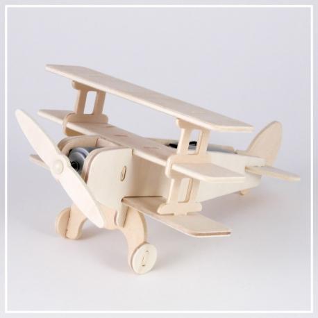 Dreifachdecker - 3D Holzpuzzle