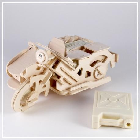 Motorrad Seitenwagen - 3D Holzpuzzle