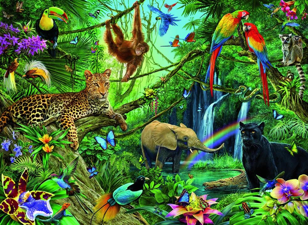 Tiere im Dschungel - 200 Teile - XXL - Ravensburger Puzzle