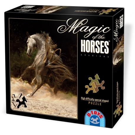 Wirbelnder arabischer Grauschimmel - Magie der Pferde