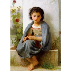Kleine Strickerin - William Adolphe Bouguereau