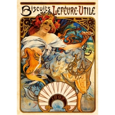 Biscuits Lefèvre-Utile - Alphonse Mucha
