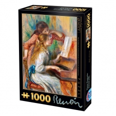 Mädchen am Piano - Pierre Auguste Renoir