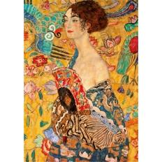 Frau mit Fächer - Gustav Klimt