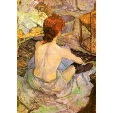 Frau in Ihrer Toilette - Henri de Toulouse-Lautrec