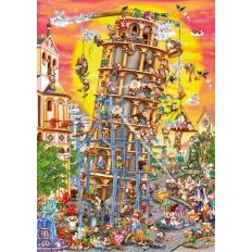 Schiefer Turm von Pisa - Cartoon