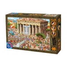 Griechischer Tempel - Cartoon