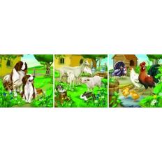 Bauernhoftiere - Hunde - Schafe - Hühner