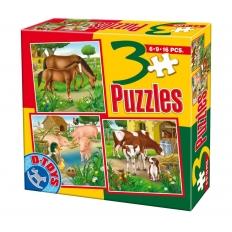 Bauernhoftiere - Pferde - Schweine - Kühe