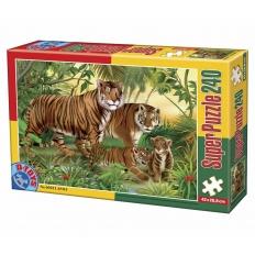 Tigerfamilie im Jungle