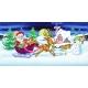 Weihnachtsmann im Rentierschlitten - Puzzleball