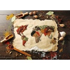 Würzige Weltkarte