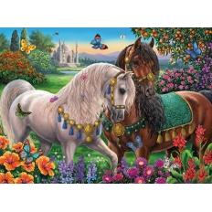 Glitzerndes Pferdepaar