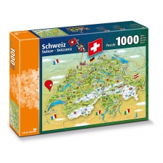 Illustrierte Karte der Schweiz