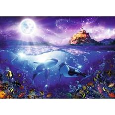 Wale im Mondschein