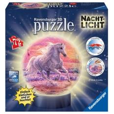 Nachtlicht Pferde am Strand