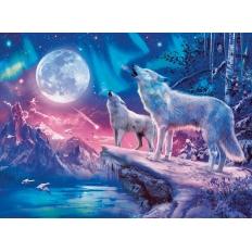 Wolf im Nordlicht